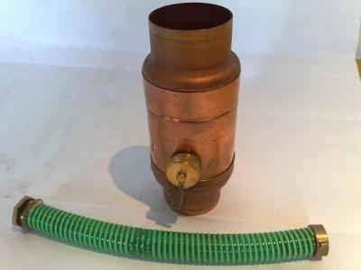 Regenwassersammler aus Kupfer