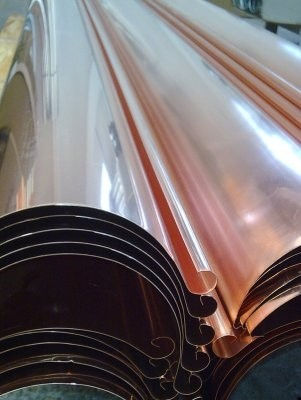 Dachrinne / halbrund / 3m lang aus Kupfer