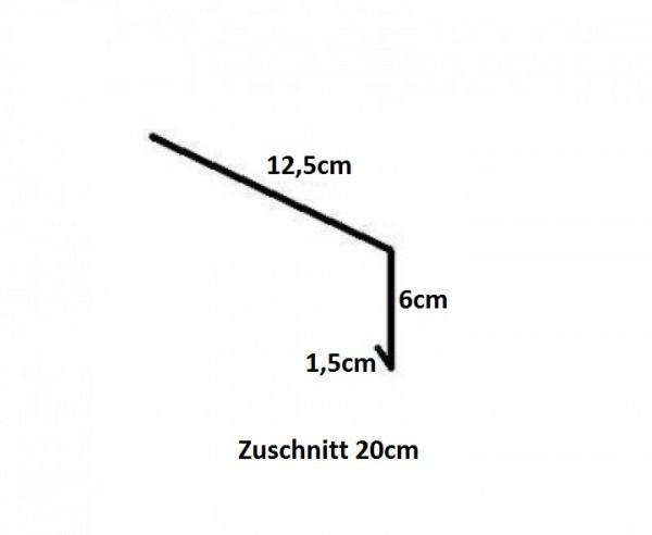Einhangblech / Traufblech / aus Titanzink / 2m lang