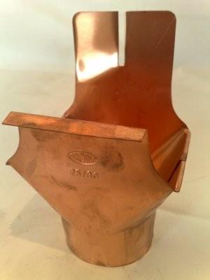 Kasten Einhangstutzen / für Kastenrinne aus Kupfer