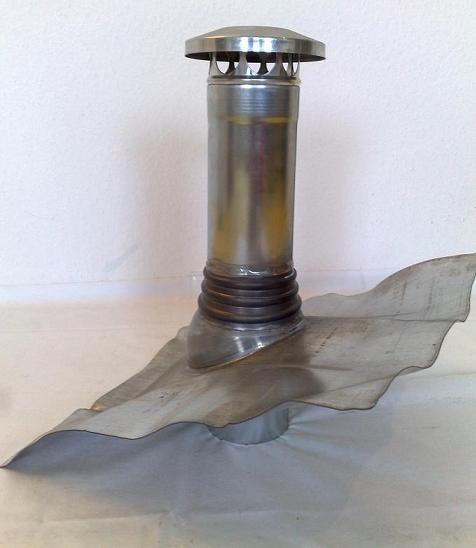 Belüftungsrohr / Entlüftungsrohr / Dunstabzug - Bleiplatte