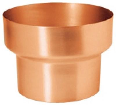 Fallrohr Reduzierung aus Kupfer