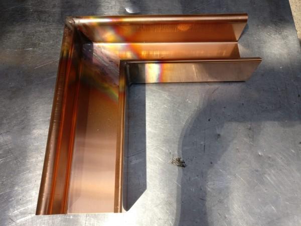 Kastenrinnenwinkel Außen / 90 Grad / aus Kupfer