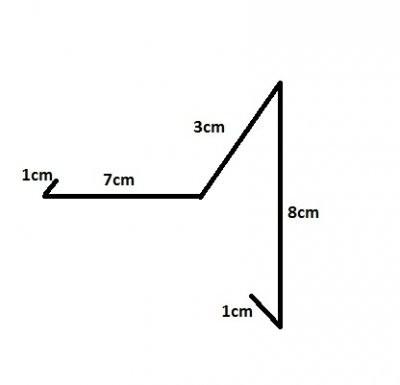 Ortgangblech aus Titanzink / 2m lang