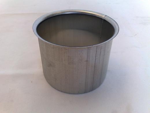 Lötstutzen / Kastenform aus Titanzink