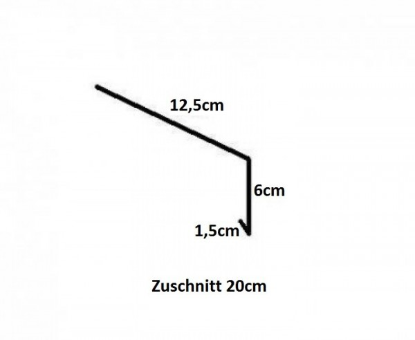 Einhangblech / Traufblech / aus Kupfer / 2m lang