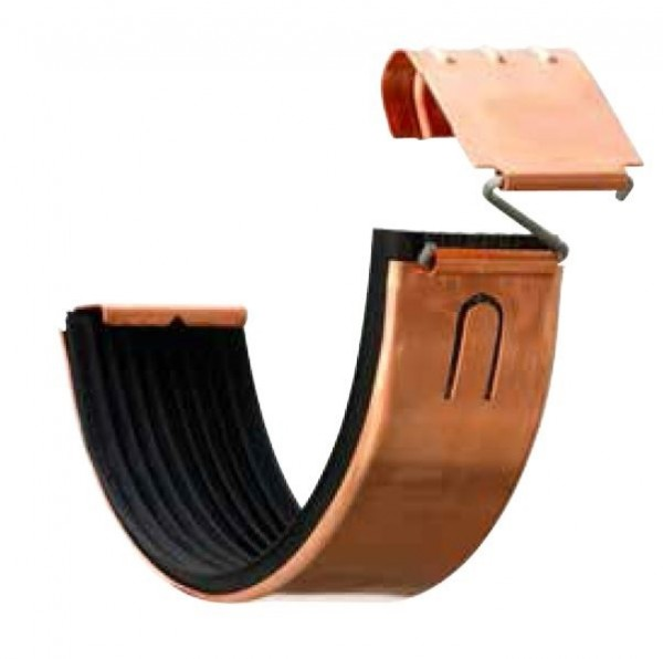 Rinnenverbinder - Dachrinnenverbinder / halbrund aus Kupfer
