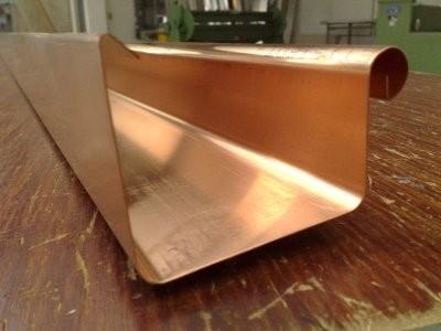 Dachrinne / Kastenform / 3m lang aus Kupfer