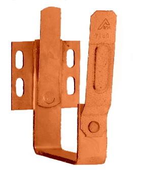 Stirnbretthalter kastenform Rinnenhalter / Eckig aus Kupfer