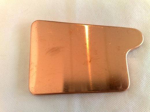 Rinnenboden / Eckig / links aus Kupfer